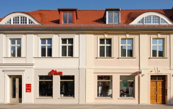 BRANDENBURGER STRASSE 59-60, POTSDAM, REBUILDING AND RENOVATION OF A RESIDENTIAL AND COMMERCIAL HOUSE