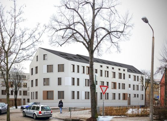 RESIDENTIAL COMPLEX FOR BUILDING ASSEMBLY, POTSDAM, NEW CONSTRUCTION OF TWO RESIDENTIAL HOUSES AND UNDERGROUND CAR PARK