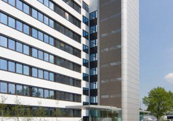 BÜROGEBÄUDE VOGELSANGER WEG, DÜSSELDORF, SANIERUNG ORANGE OFFICE