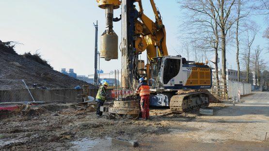 Bauaktivitäten auf dem GSI- und FAIR-Gelände schreiten voran