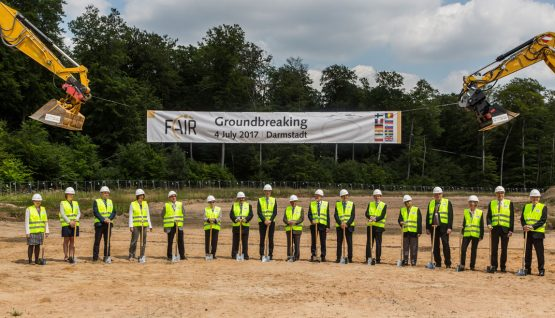An important milestone: Groundbreaking ceremony for the FAIR accelerator facility