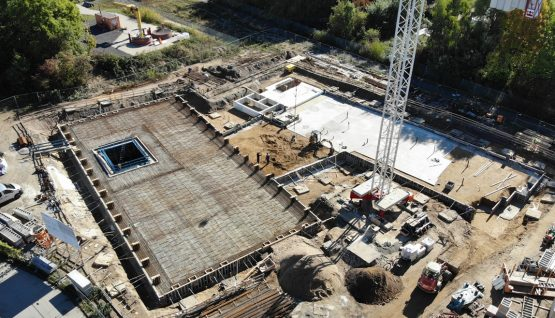 Top View of the Construction SiteCentre for Light Construction and Environmentally Compatible Building