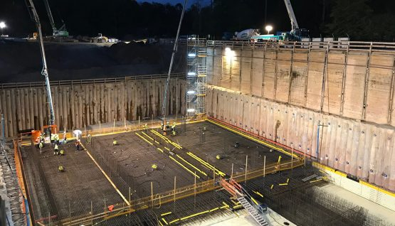 FAIR – Construction site operation at night