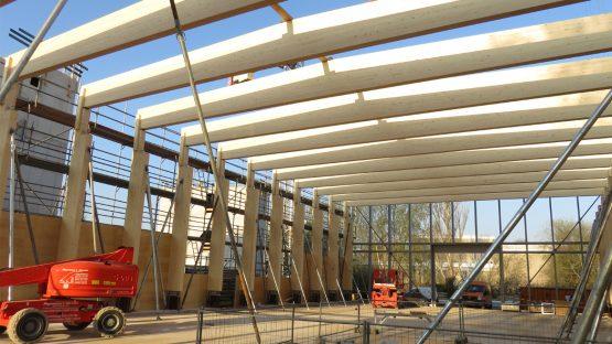 Holz-Hybrid-Bauweise – Erlebbare Baufortschritte