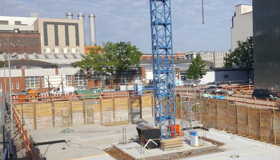 The laying of the foundation stone for the new 50hertz building in Berlin-Charlottenburg