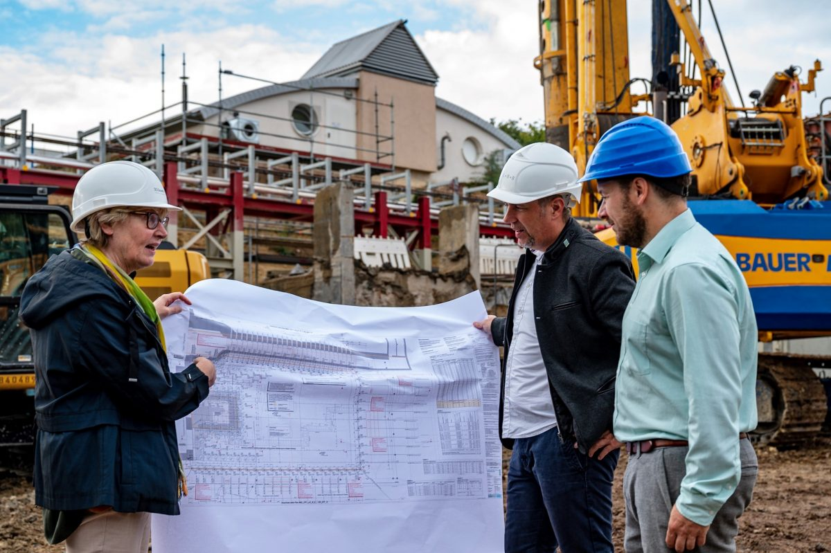 Drilling work started on the campus of Johannes Gutenberg University Mainz