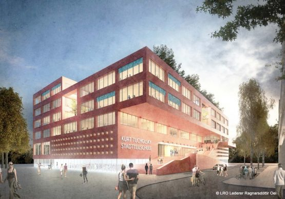 Start of construction District school Mitte Altona in Hamburg