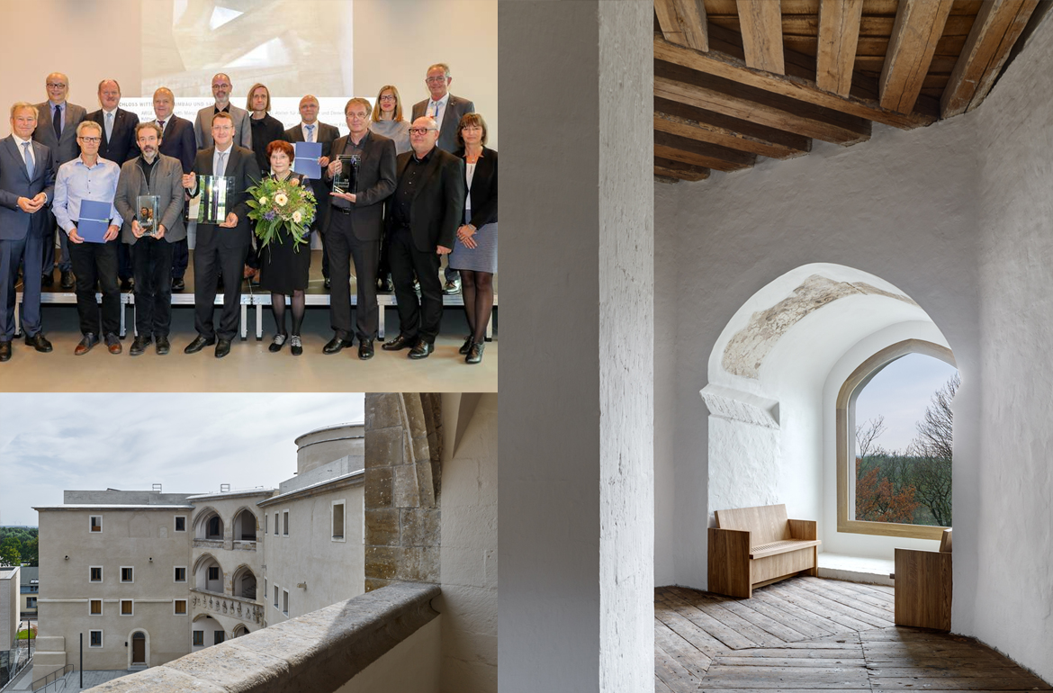 Architecture Award of the State of Saxony-Anhalt 2019 for Schloss Wittenberg Awarding ceremony on October 18, 2019 at the Bauhaus Museum Dessau