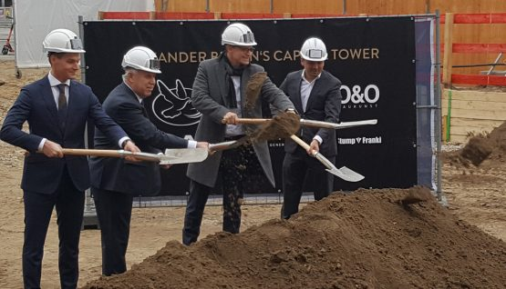 Alexander Berlin's Capital TowerGround-breaking ceremony for the first new skyscraper at  Alexanderplatz