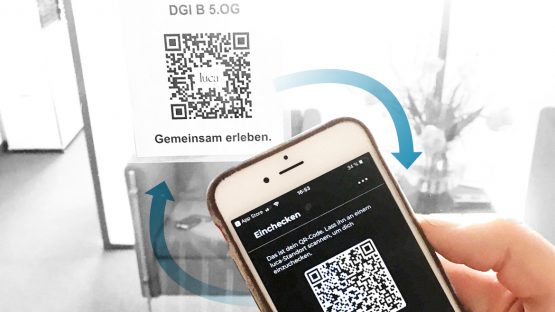 DGI Bauwerk uses Luca App Scanning when entering and logging out when leaving the office